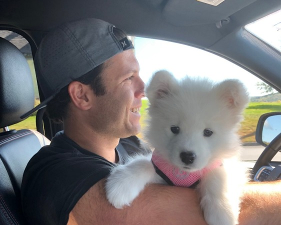 Winnie heading home with her new parents